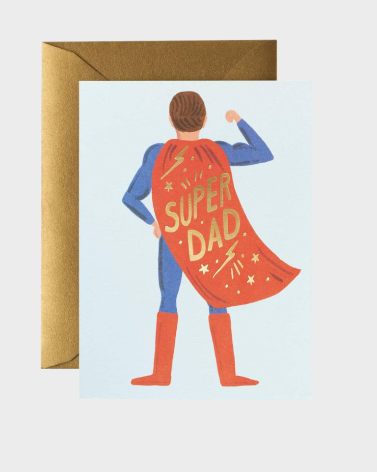 Super Dad Greeting Card Onnittelukortti