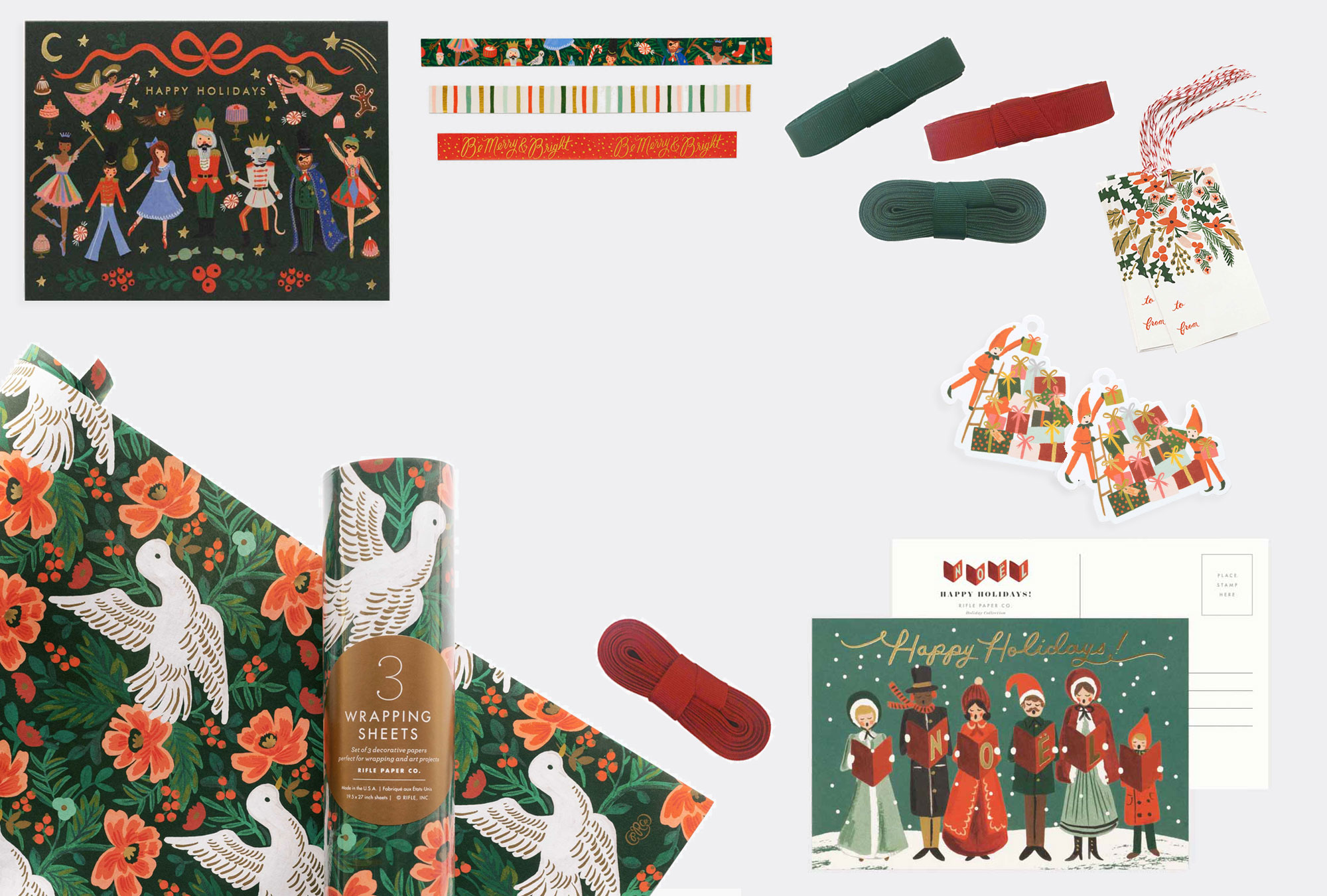 Joulun kauneimmat koristeet, kortit ja lahjapaketit