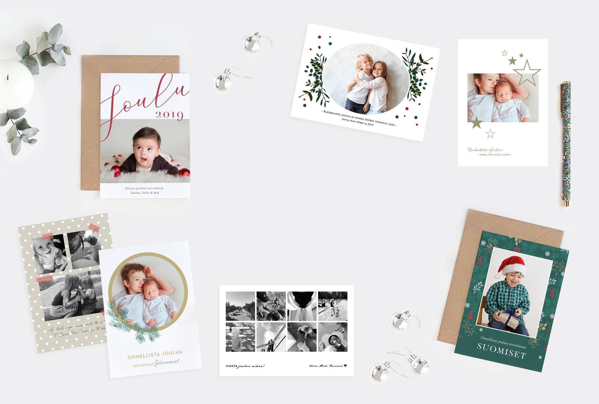 Papershop Painostudio Joulukortit omalla valokuvalla