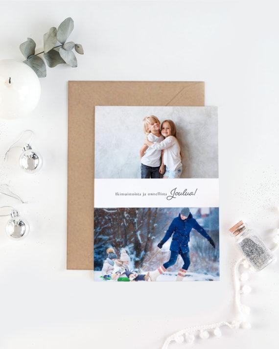Papershop painostudio Modern Collage Joulukortti omalla valokuva