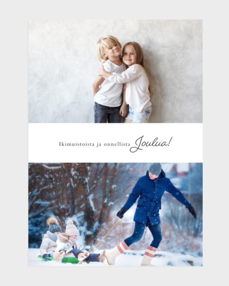 joulukortit omalla valokuvalla