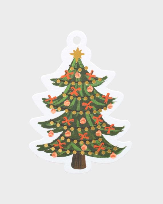 Joululahjaan Joulukuusi pakettikortti