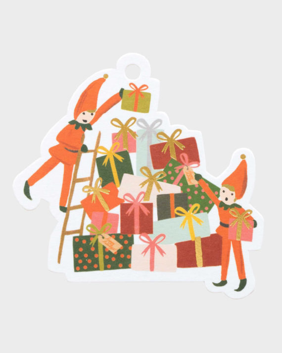 Joululahjaan Joulutonttu pakettikortti