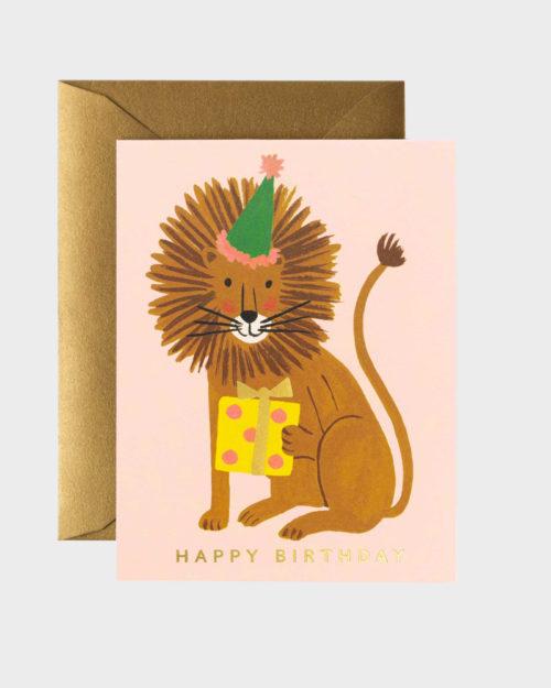 Leijona Syntymäpäiväkortti