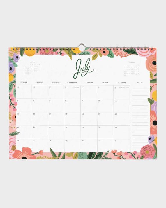 Wild Rpse Seinäkalenteri Wall Calendar