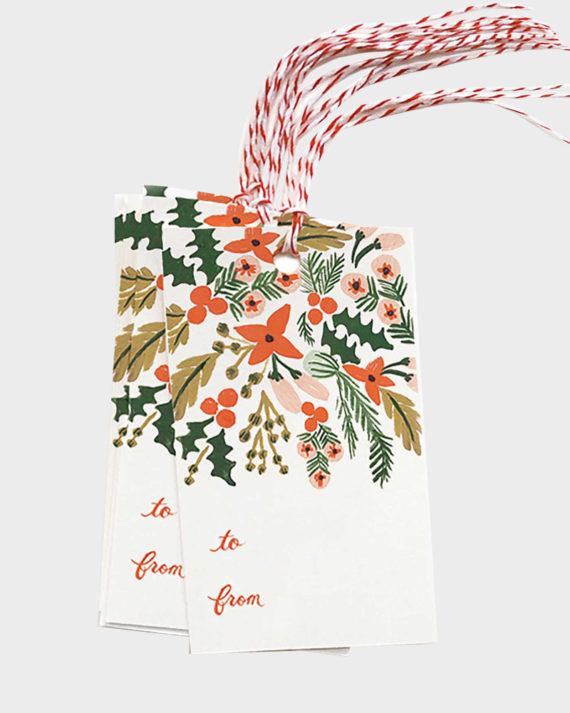 Joulupakettiin pakettikortti