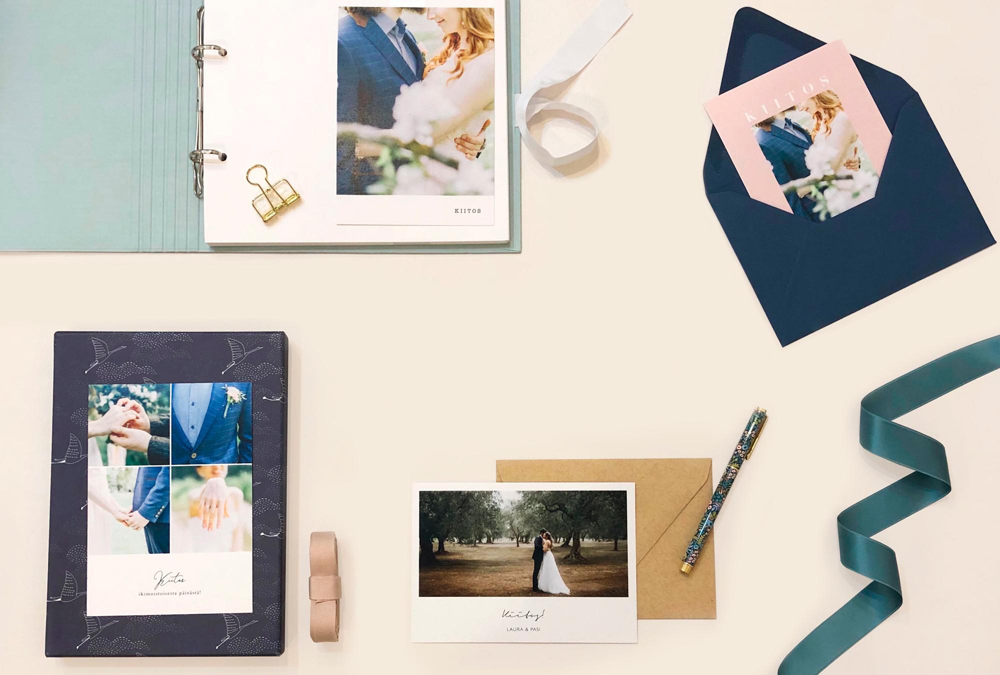 Papershop painostudio Kiitoskortit