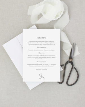 Graphic floral infokortti