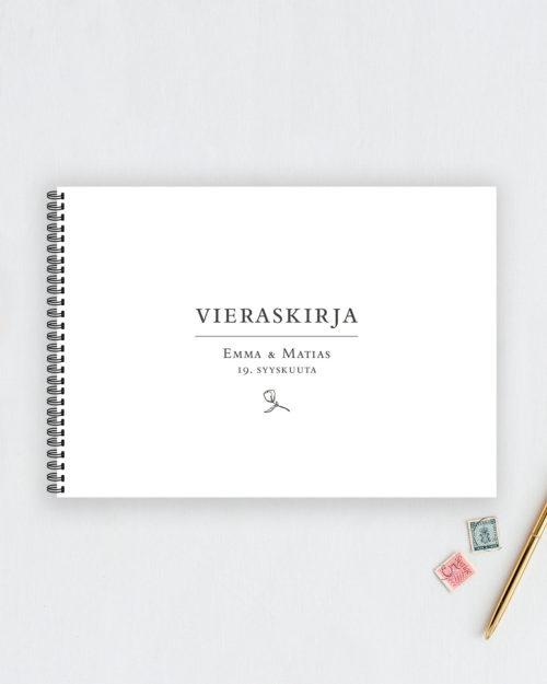 Vieraskirja Valokuva-albumi Valkoinen