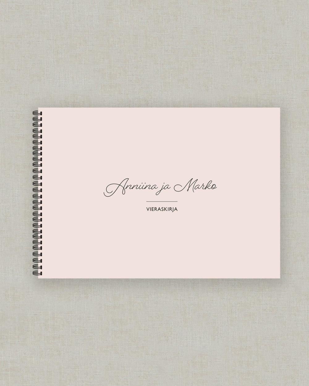 Modern vieraskirja valokuva-albumi roosa