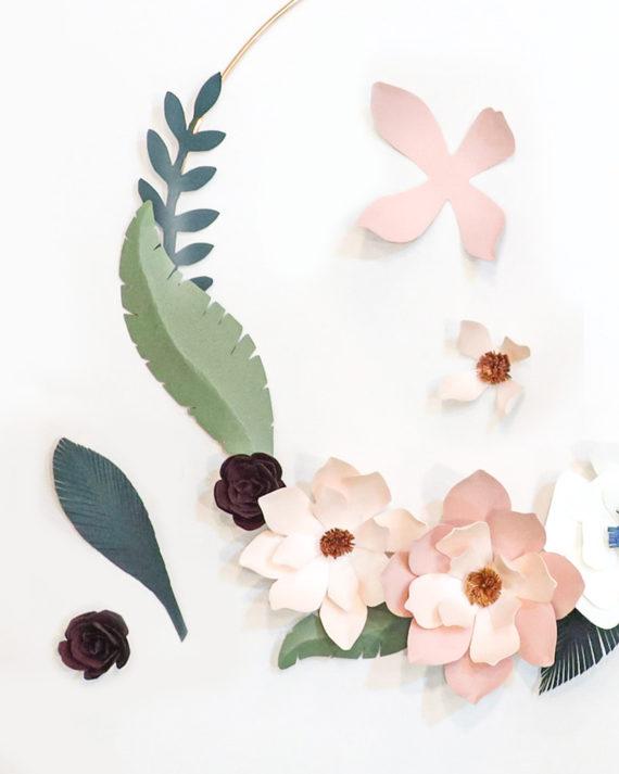 Paperikukka koriste Paper flower decoration