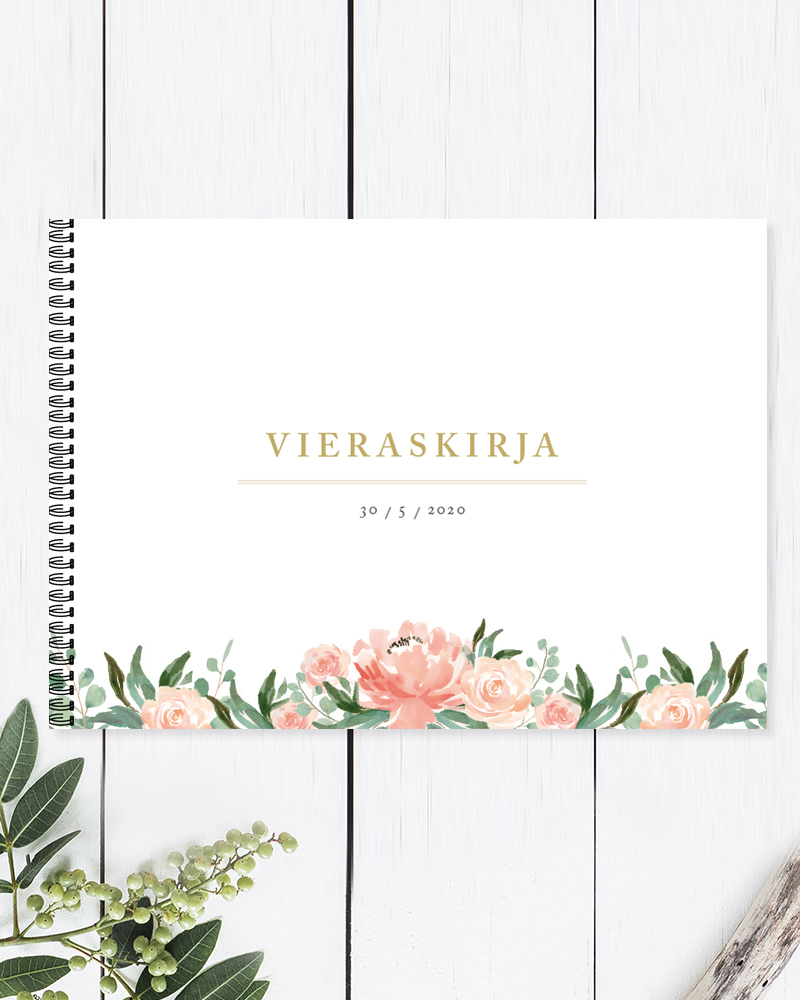 Wedding guest book and photo album