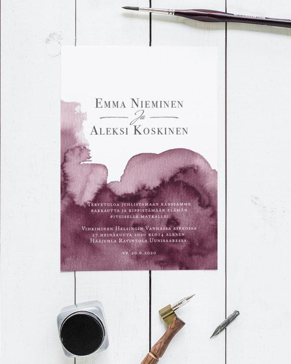 Hääkutsukortti Helsinki