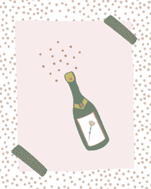 Sparkling party greeting card