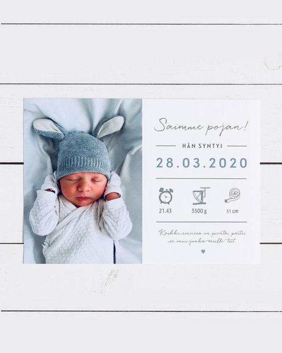 Vauvan syntymäkortti Newborn Baby card