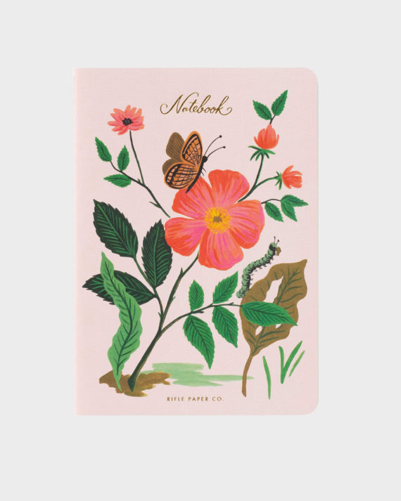 Botanical muistikirja kolme kappaletta