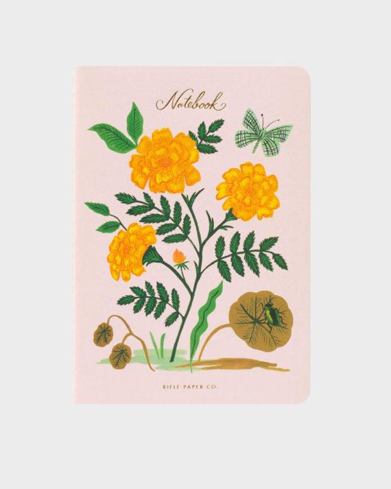 Botanical kukkakantinen muistikirja