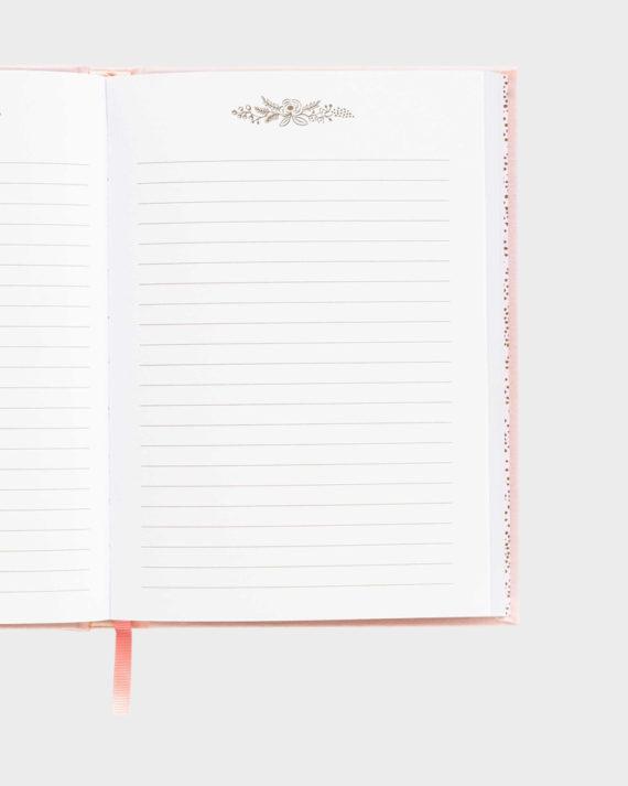 Muistikirja kirjoitus rivit viivat
