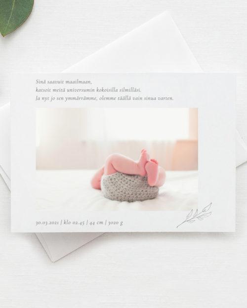 Minimal vauvakortti vaakamalli