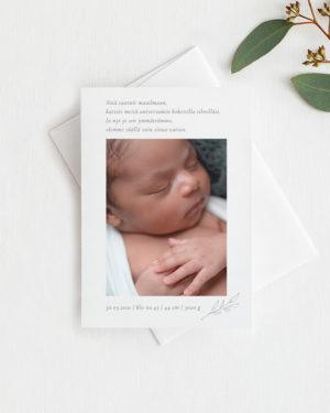 Minimal vauvakortti pystymalli