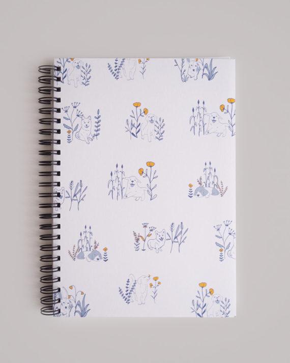 koira muistivihko dog notebook