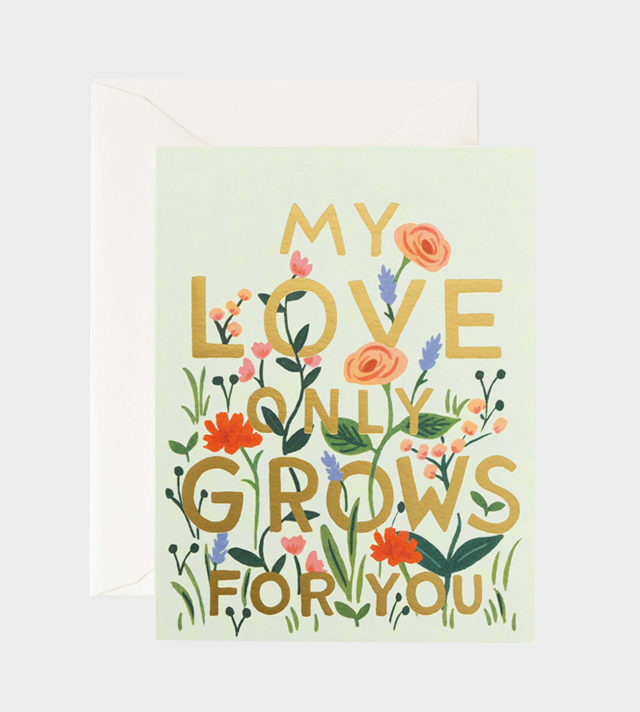 my love grows only for you