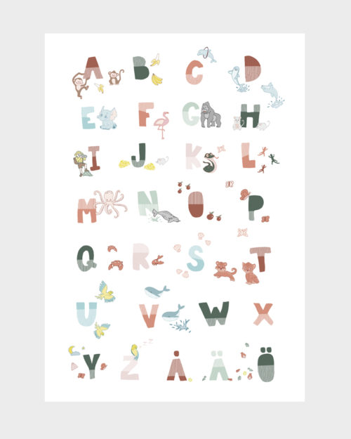 ABCaakkosjuliste alphabet poster