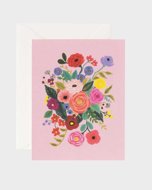 garden party rosa greeting card