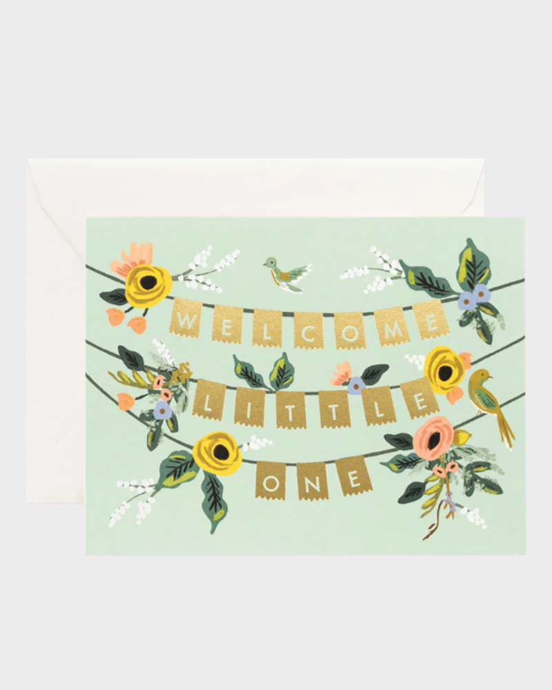 welcome garland baby card
