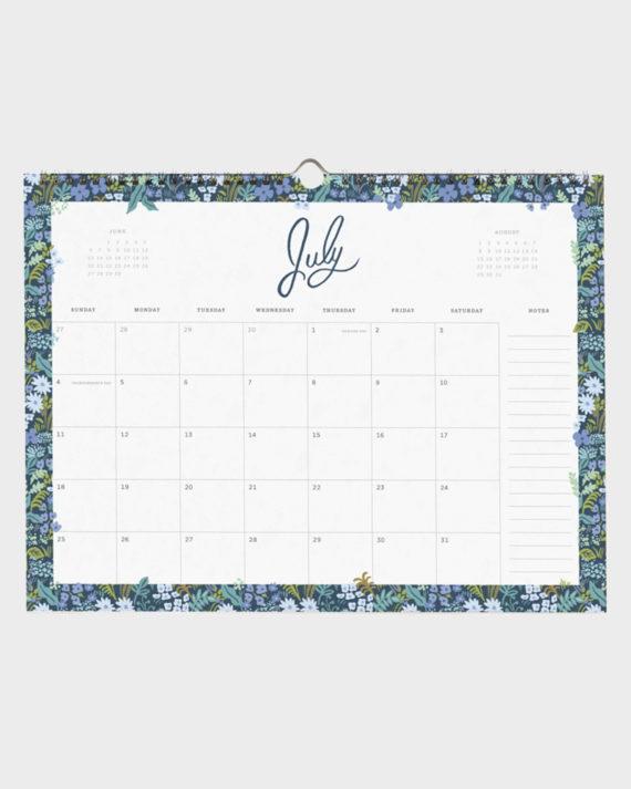 kukkakuvioinen kalenteri