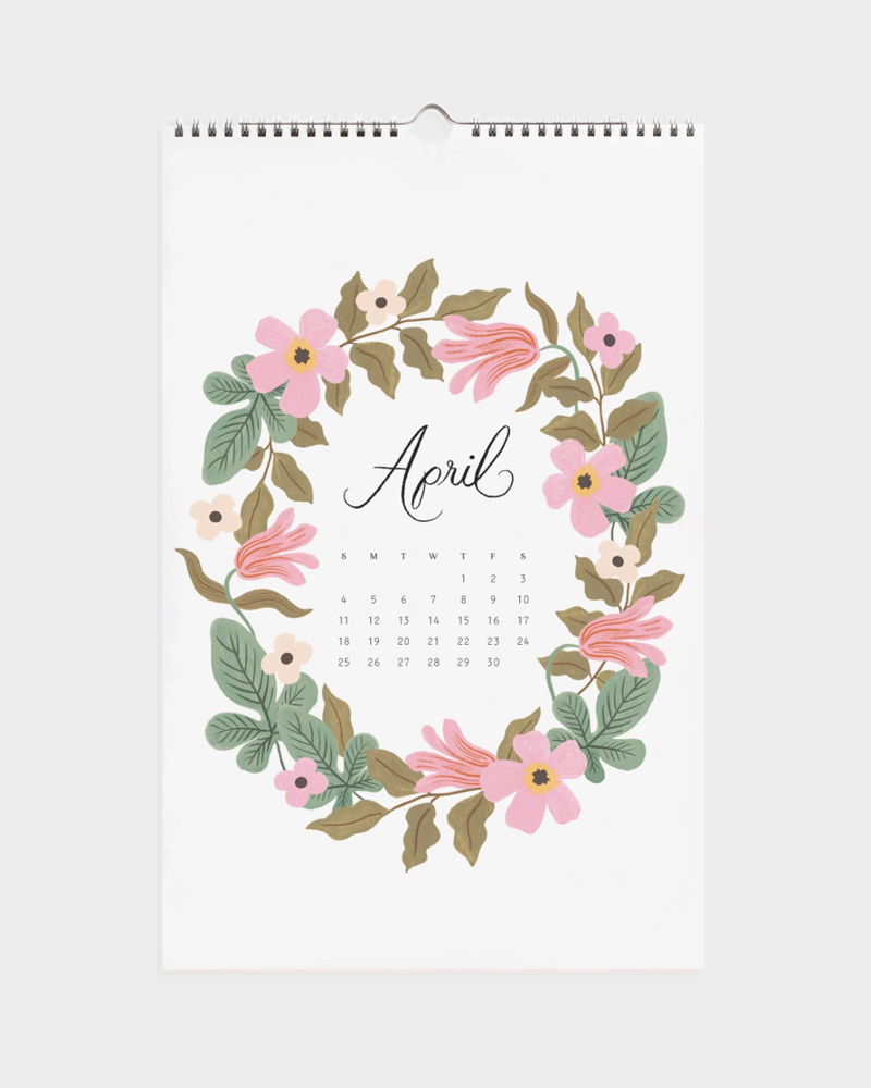 kukkakuvio kalenteri