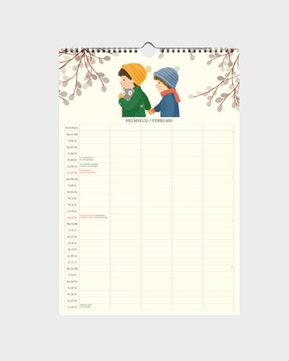 polka paper kalenteri