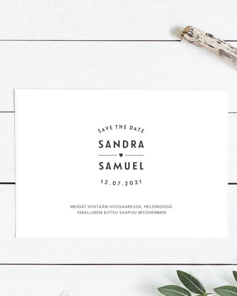 lähetä save the date kortit ajoissa