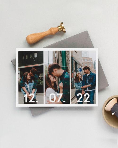 countdown save the date kortti