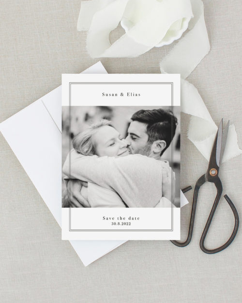 Frame save the date kortti