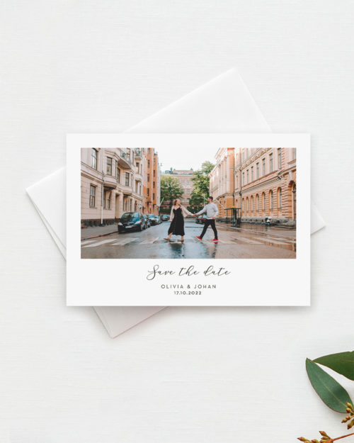 Polaroid Save the date kortti