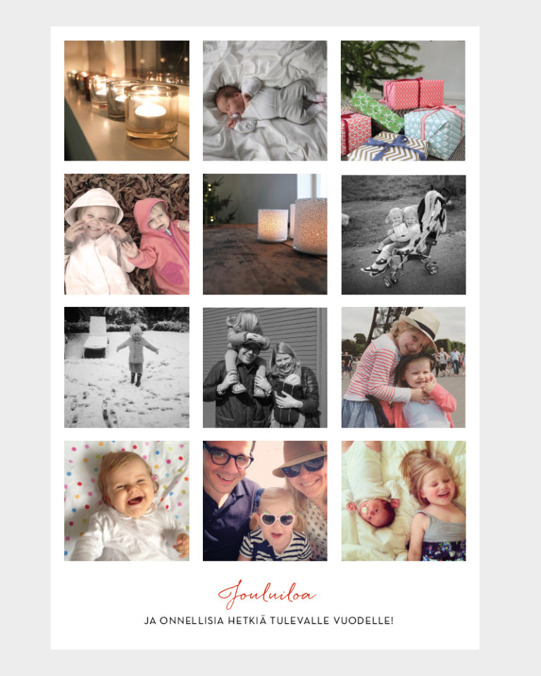 joulukortti omalla kuvalla