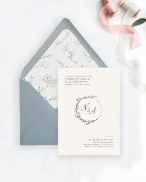 Hääkutsu kirjekuoret ja sisäpaperit