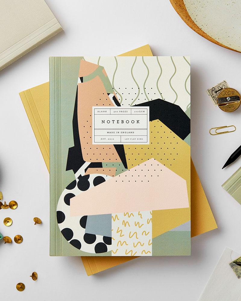 graafisen modernin tyylinen muistikirja