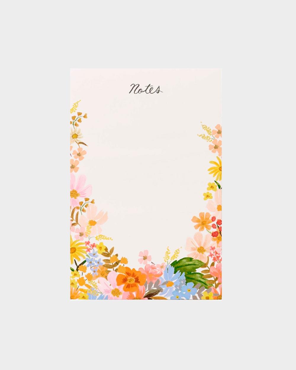 kukkakuviollinen muistilehtiö