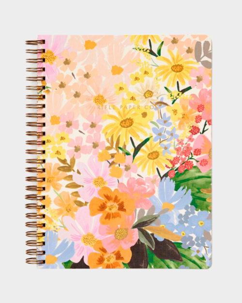 kierresidottu värikäs kukkakantinen muistikirja