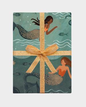 merenneitokuviollinen lahjapaperi