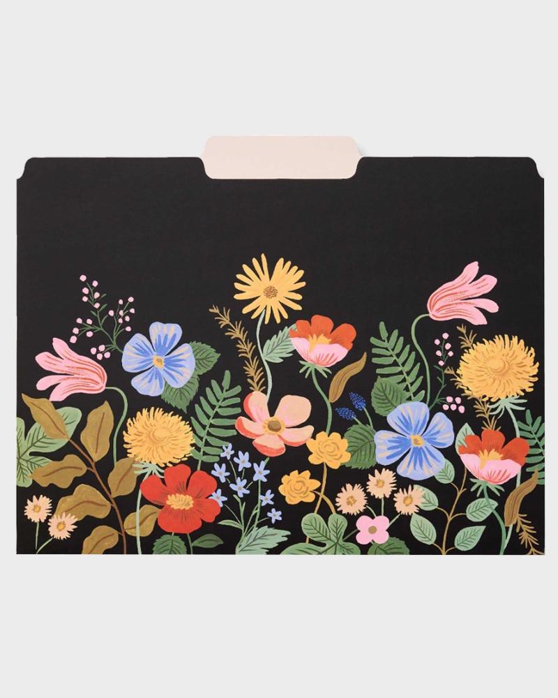 kukkakuviollinen kansio