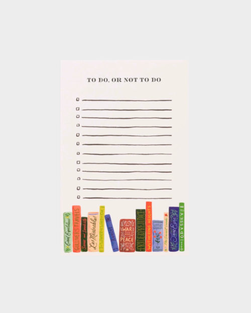 to do or not to do muistilehtiö jossa kirjakuvitus