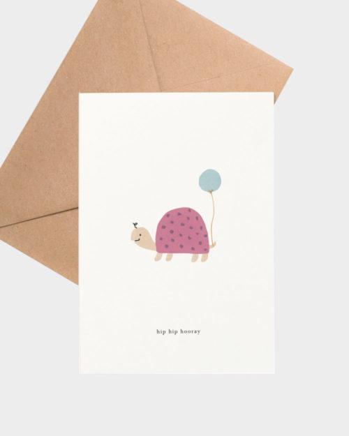 Birthday turtle syntymäpäiväkortti