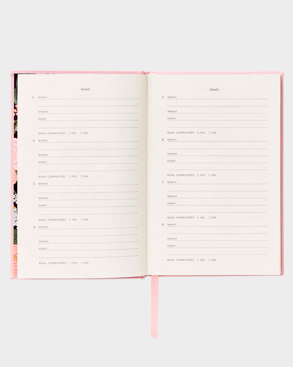 Keepsake päiväkirjan tavoitenäkymä