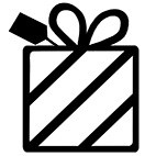 Lahjapaketointi symboli