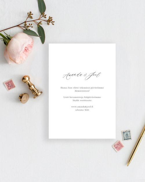Soft elegance kiitoskortti