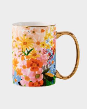 Kukkakuviollinen Marguerite muki