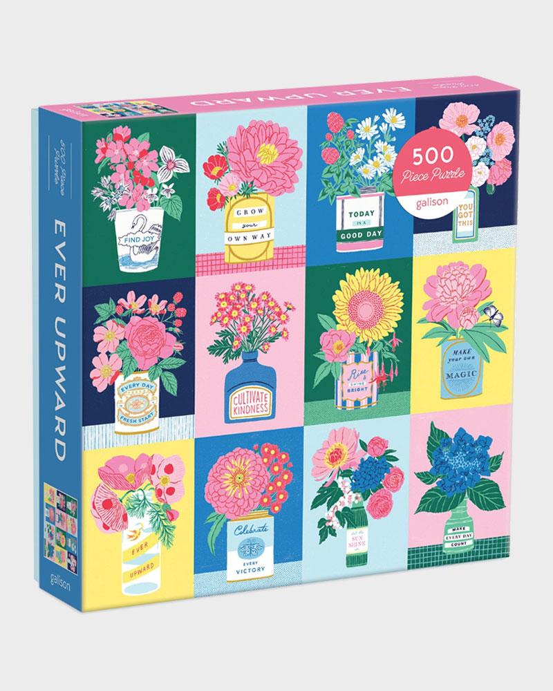 Ever Upward kukkakuvioinen 500 palan palapeli